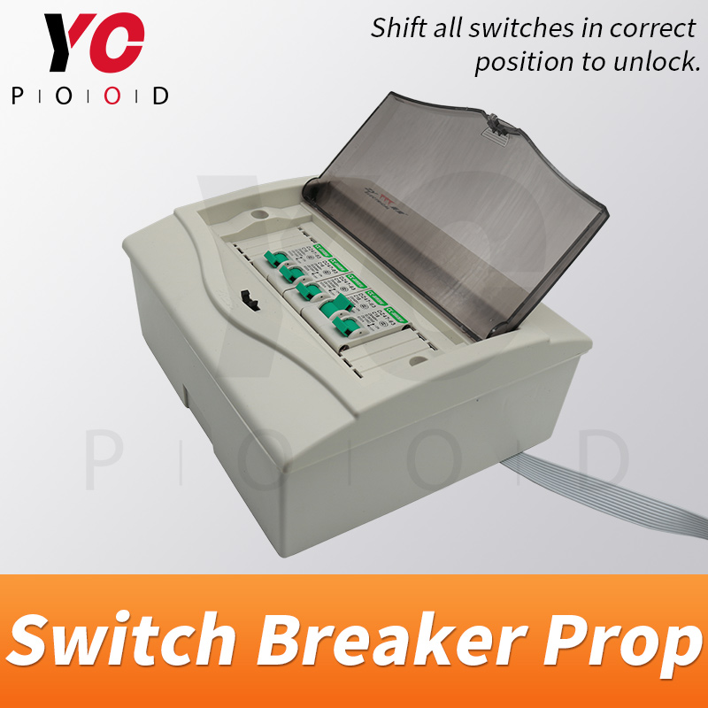 YOPOOD Switch Breaker Prop in real life escape game turn the switches to right position to unlock