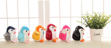NEW 8CM Height Little Penguin toy , 3Colors - Plush Stuffed TOY , keychain Pendant Penguin DOLL TOY Wedding Gift Bouquet Toy(China)