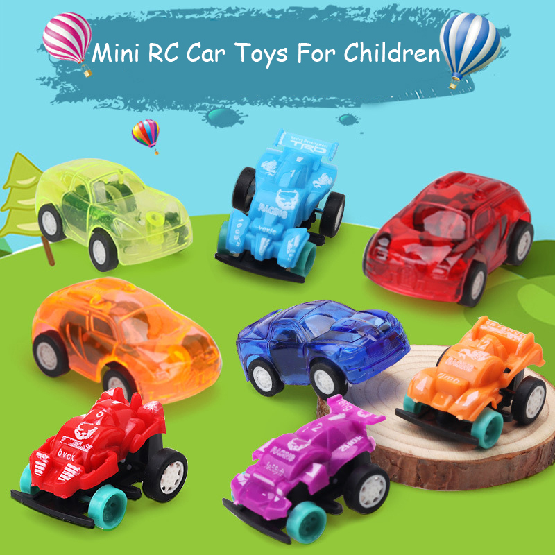 8 Colors Mini RC Car Radio Manual Remote Control Micro Racing Car Transparent Candy Colors Cars Toys For Children Baby Kids Gift