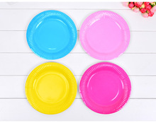 60pcs/lot 6inch Multicolour Dishes Paper Plates For Disposable Party Tableware