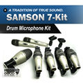 Free Shipping!! Top Quality!! Professional New Boxed SAMSON 7kit 7-piece Drum Kit Microphone Mic Set In Box microfone microfono