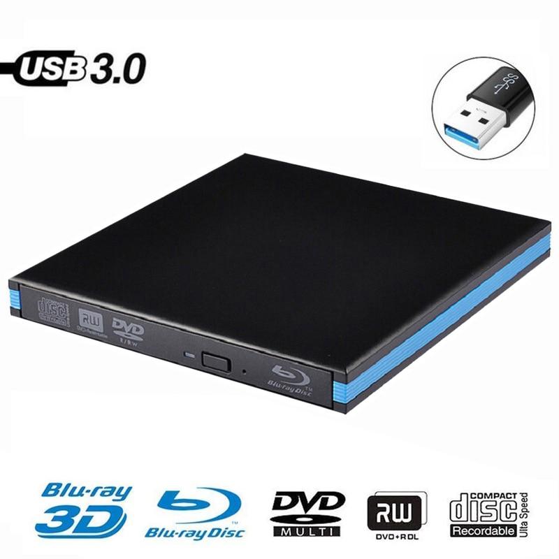 USB 3 0 DVD Player Bluray Burner External Optical Drive BD RE Blu ray Superdrive CD