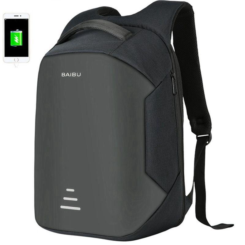 Hombres 15,6 pulgadas portátil mochila Anti-robo mochila carga Usb hombres escuela Oxford mujeres mochila de viaje impermeable