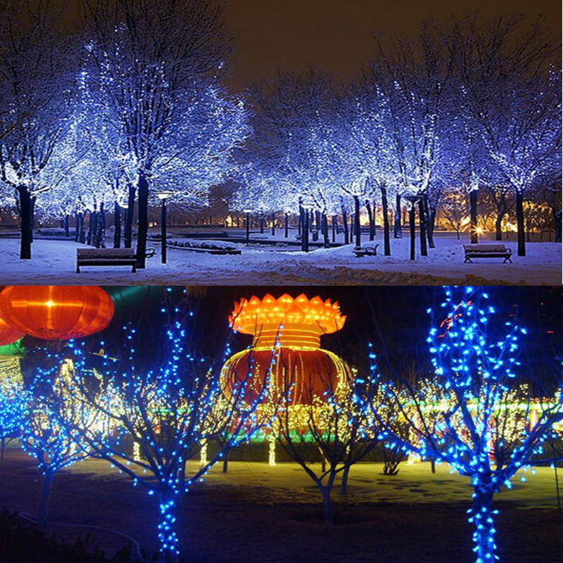 Logical Rgb Led String Outdoor Waterproof Decorative Light Strip Copper Wire Lights Lamp String 12m For Christmas Wedding Home Party Complete In Specifications Lights & Lighting