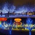 200led led 태양 램프 빛 야외 조명 갈 랜드 크리스마스 나무 led 문자열 요정 조명 웨딩 정원에 대 한 방수