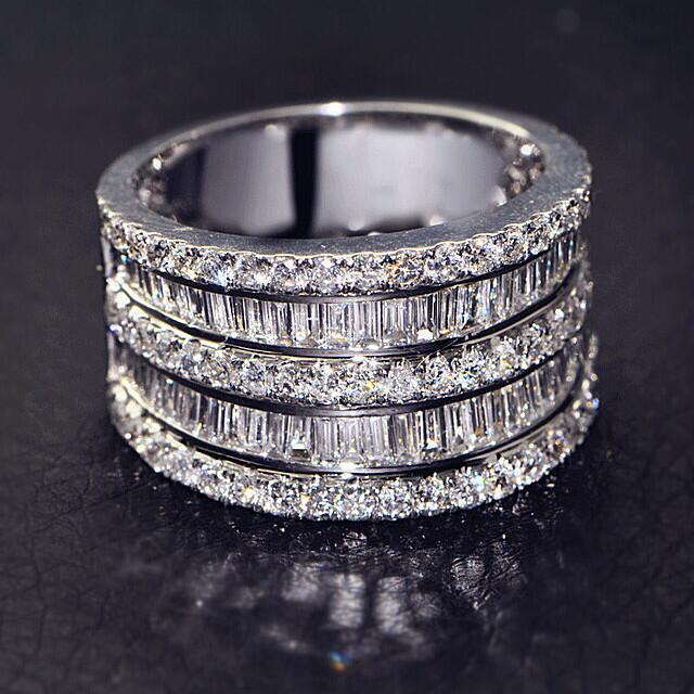 Купить большой камень циркон s925 стерлингового серебра цвет кольца