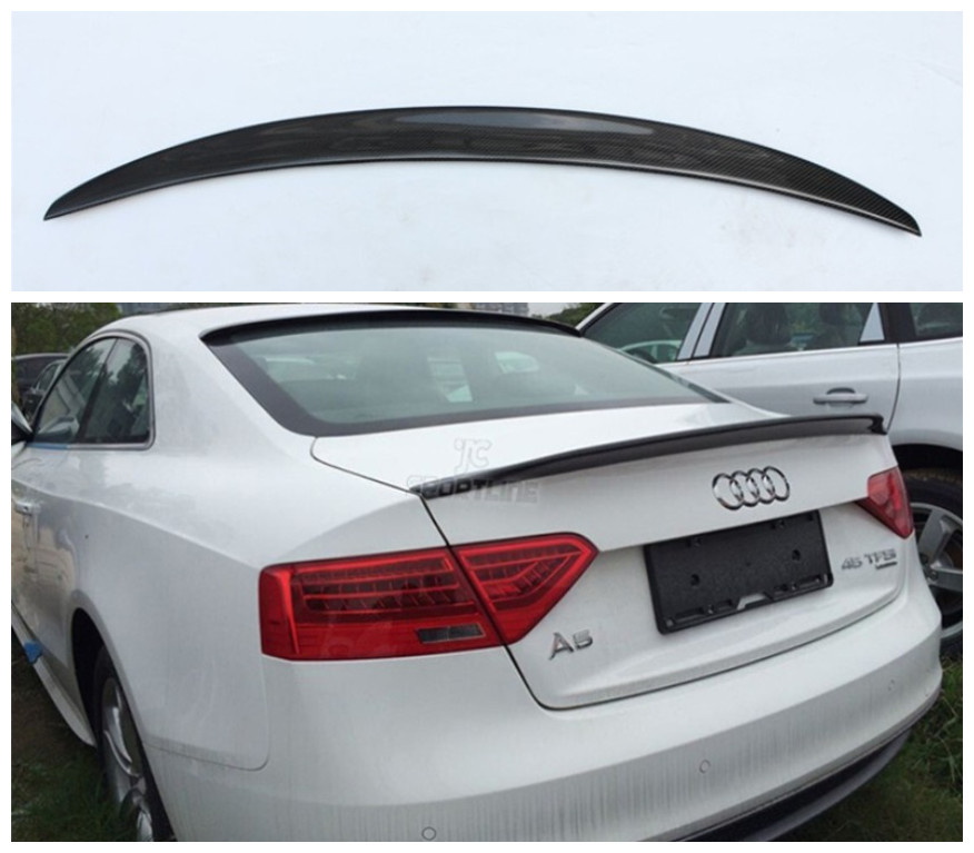 For Audi A5 S5 Coupe 2009-2016 High Quality Carbon Fiber Spoiler Rear Wing Spoilers Auto Accessories image