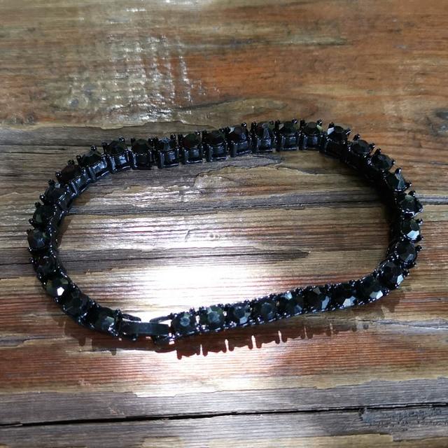 Hip hop Bling Iced Out Cubic Zirconia Bracelet Tennis Chain Bracelets 4