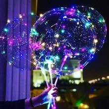 1set 18 24 36inch Luminous Led Balloon 3M LED Air String Lights Bubble Helium Balloons Wedding birthday Party Decoration
