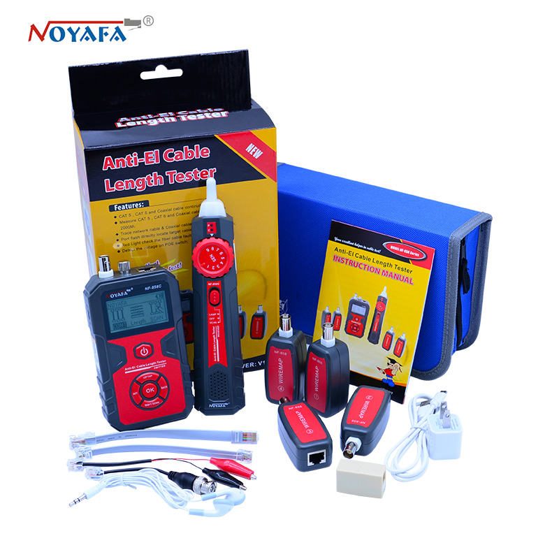 NF 858 Cable Line Locator RJ11 RJ45 BNC Portable Wire Tracker Cable Tester Finder For Network