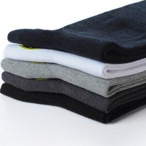 Image 3 - Plus Large Big Size Socks Man 48,49,50,51,52,53 Business Crew Socks 6 Pairs Classic Solid Comfortable Men Winter Socks