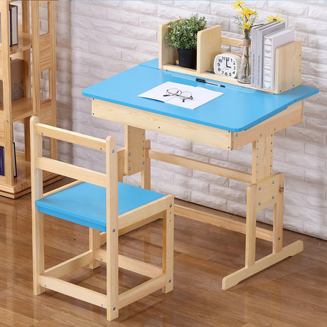 Children Furniture Sets one table+one chair sets solid wood kids Furniture sets adjustable kids chair and study table sets hot Стол