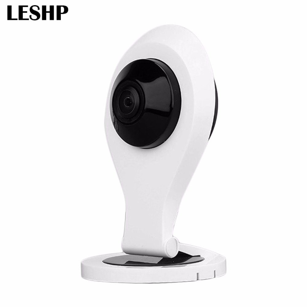 LESHP WIFI IP Camera VR H264 720P HD 180 Degree View Angle 1.44mm Lens Panoramic Network Surveillance Home Security Baby Monitor