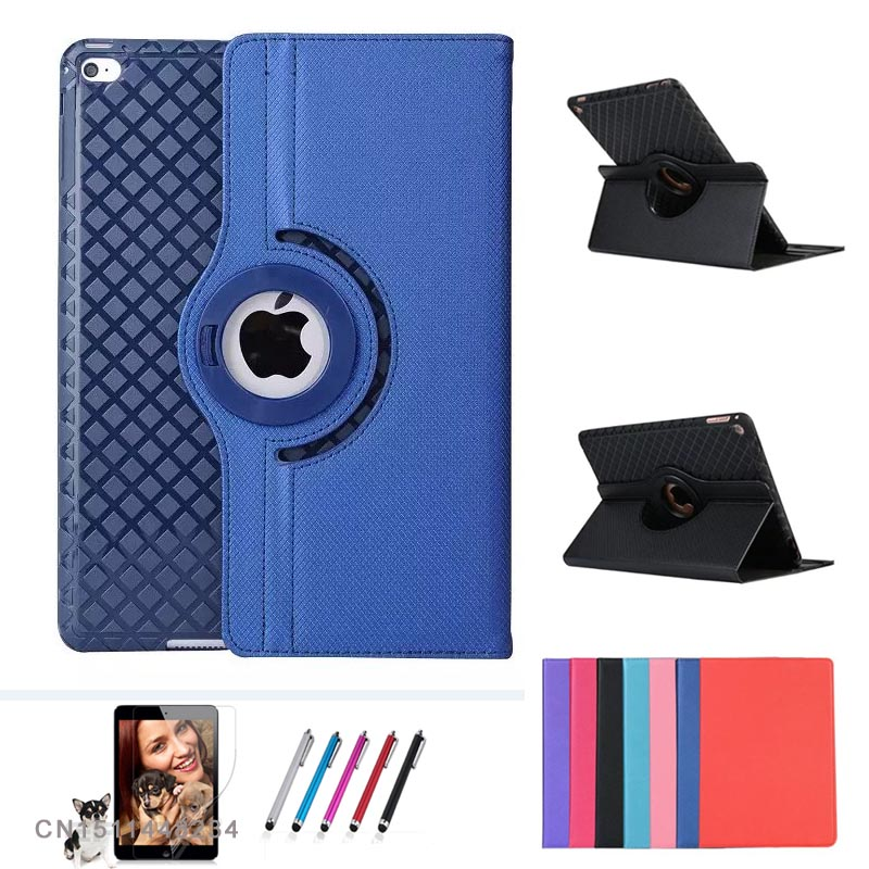 Luxury 360 rotating Stand protection shell case for iPad Air air 2, Shockproof silicone back cover for ipad 5 ipad 6 smart case