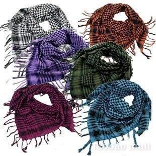 Unisex cuadros árabe Shemagh cuadrícula cuello abrigo de la bufanda / / envío gratis(China
