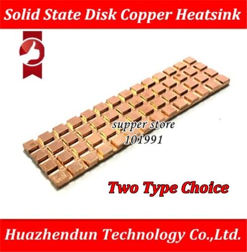 DEBROGLIE Copper Heatsink Thermally Conductive Adhesive Thin Copper M.2 NGFF 2280 PCI-E NVME Solid State Disk SSD Radiator