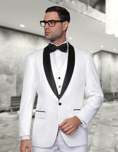 Classic Style One Button White Groom Tuxedos Groomsmen Men's Wedding Prom Suits Bridegroom (Jacket+Pants+Vest+Tie) K:906