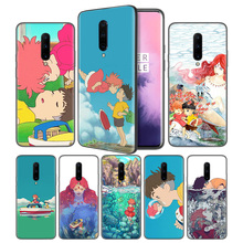 ponyo Soft Black Silicone Case Cover for OnePlus 6 6T 7 Pro 5G Ultra-thin TPU Phone Back Protective