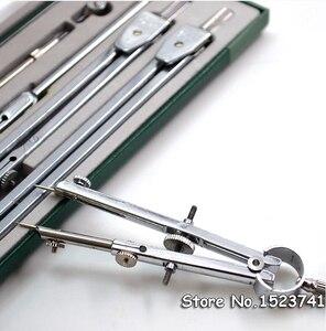 Image 2 - Instrumento de dibujo mecánico H4009 auténtico, 9 unidades por juego, compás, nine suit, juegos de matemáticas, papelería de oficina