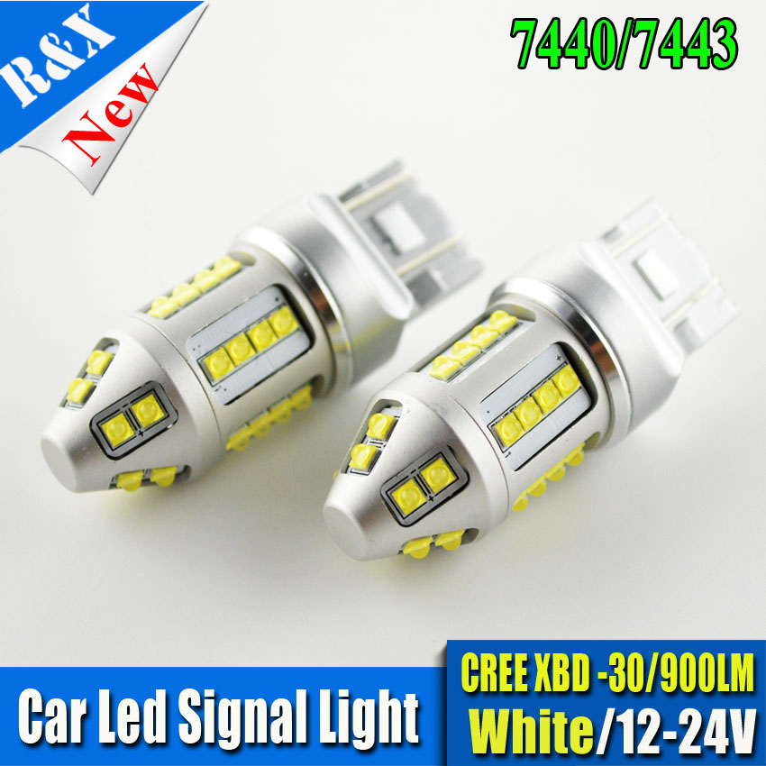 Pair 150W T20 7443 W21/5W 30 SMD LED White Car Tail Bulb 21/5W Brake Lights auto Fog Lamps Turn Signals white 12V-24VDC 1pcs t20 w21 5w 7443 32smd 4014 car led brake light auto warning bulb fog lamp dc12v car styling side turn signal 6000k white