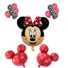 15pcs/set mickey minnie foil balloons set latex globos baby shower birthday party Wedding decoration