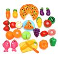 New Arrival Funny 24Pcs/Set Kitchen Pretend Play Toys Vegetable Fruits Children Early Education Set Kids Classic Toys
