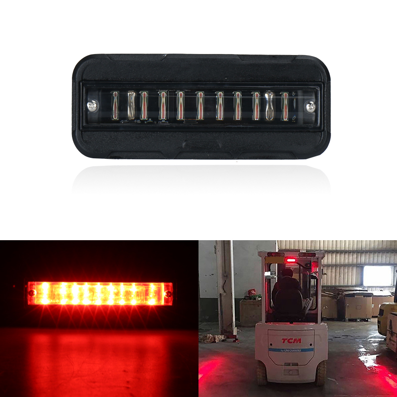 Forklift Safety Light 27W Cree Chips Red Blue Safety Waring Work Lamp Fork Forklift Trunk Security Indicator Light One Piece 10pcs x red blue zone forklift danger zone warning light 10 80v 18w red safety zone warning led work lamp