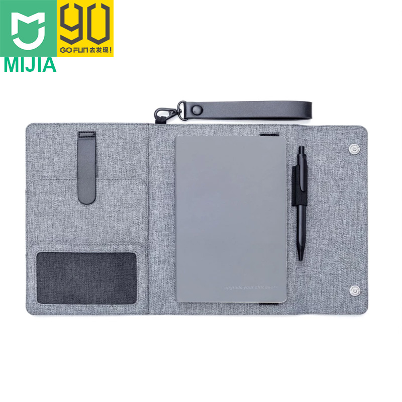 90FUN Multifunctional Waterproof Business Cover with Diary Notebook Pockets and Pen