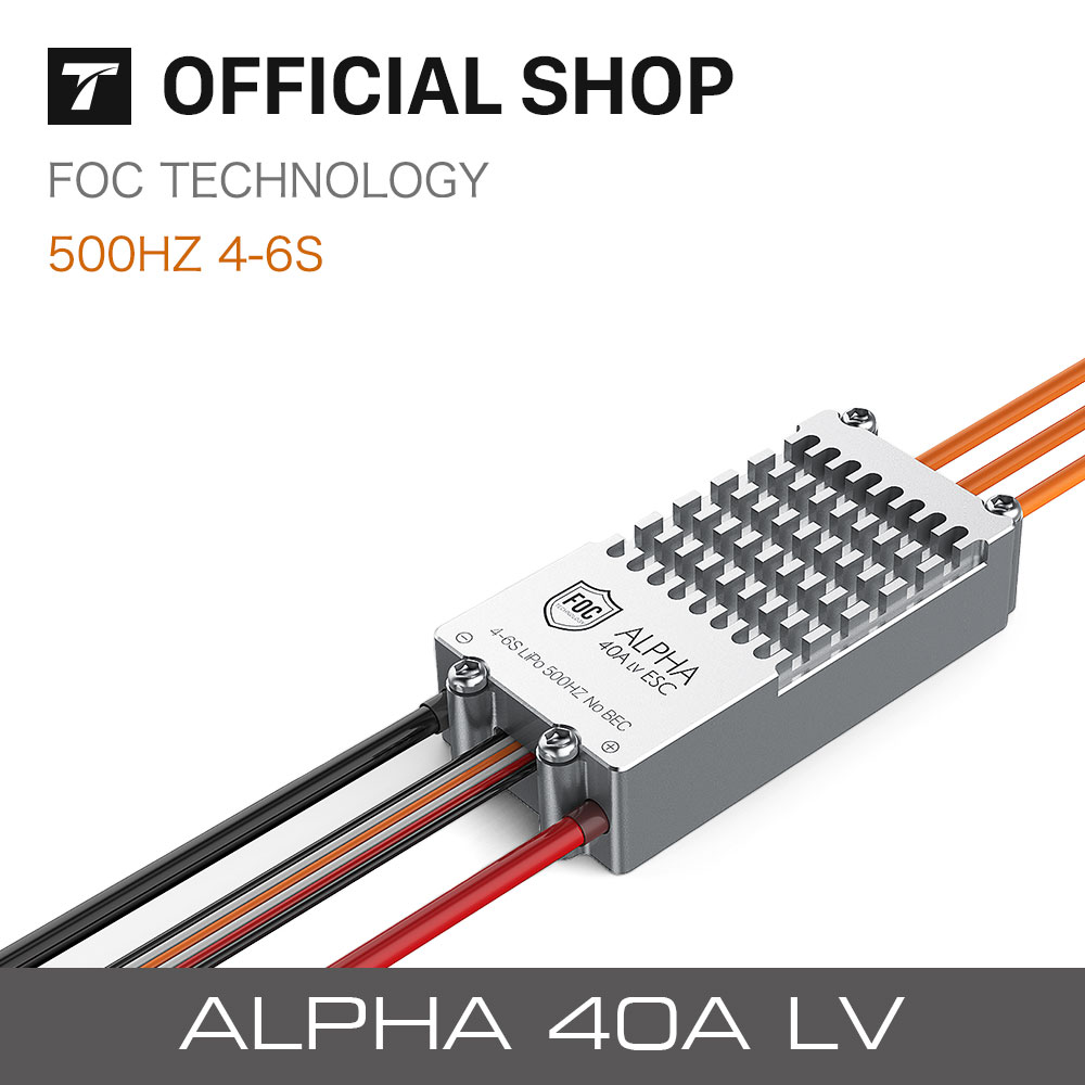 T-motor New released ALPHA 40A  FOC High Quality Speed Controller for RC FPV PlaneT-motor New released ALPHA 40A  FOC High Quality Speed Controller for RC FPV Plane