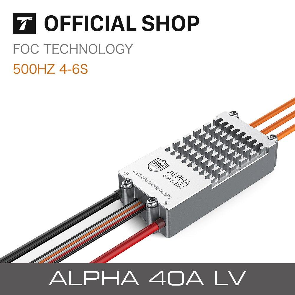 t motor alpha 40a lv esc foc controlador de velocidade de alta qualidade para rc fpv