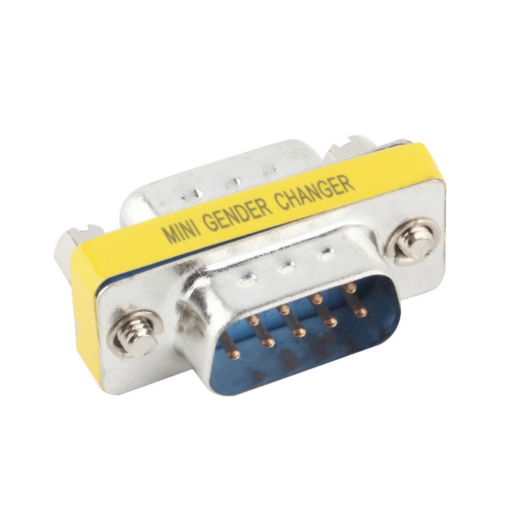 1pcs 9 Pin RS-232 DB9 Male To Male Serial Cable Gender Changer Coupler Adapter Hot Worldwide