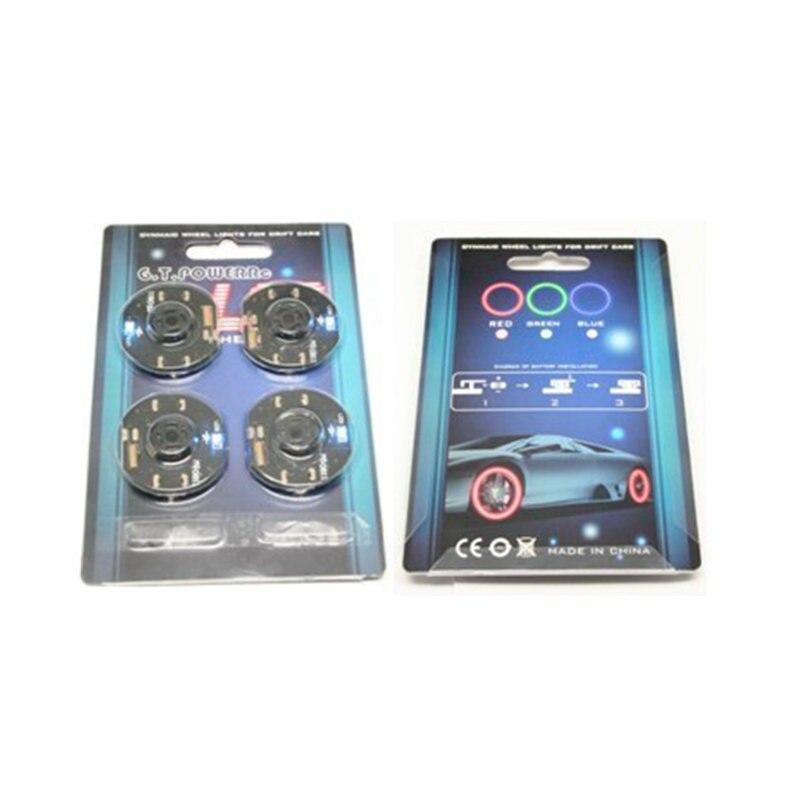 4pcs GT Power Dynamic Wheel LED Light set for RC Drift Car Brake Disc