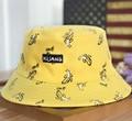 Две Стороны Обратимым Ведро Hat Мужская Мода Боб Caps Хип-хоп Gorro Мужчины Лето Caps Пляж Солнце Рыбалка Банан Ведро шляпа