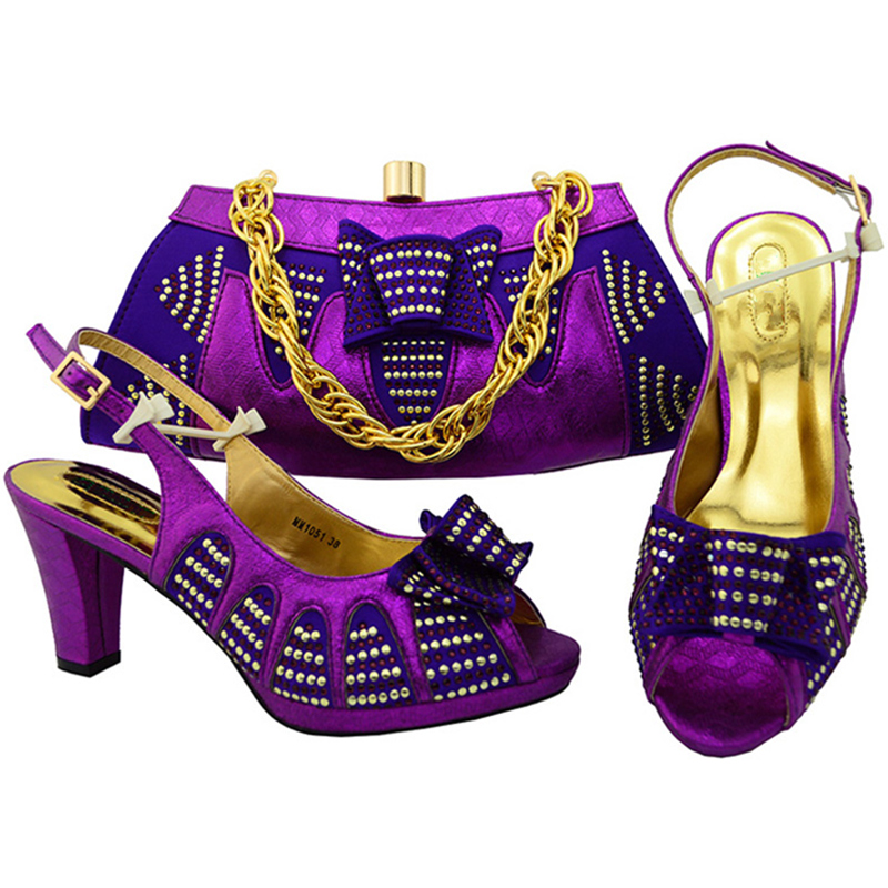 peach Italien Purple Sac Femmes Mariage lemon Africain Nigérianes Or Dans Et Bleu Couleur bleu Assortis Green deep De fuchsia Sacs Assorties Africaine Chaussures Royal red Les awSqp0U