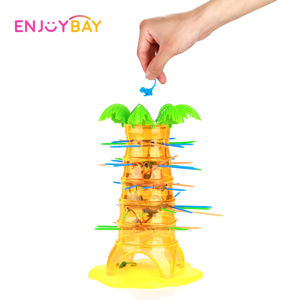 Enjoybay Educational Toys Falling Tumbling Monkeys Game Party Family Interaction Game Toy Dump Monkey Board Kids Birthday Gift