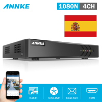 Clearance Sale For Spain ANNKE 4CH 5in1 HD TVI CVI AHD 1080N HD 720P HDMI DVR
