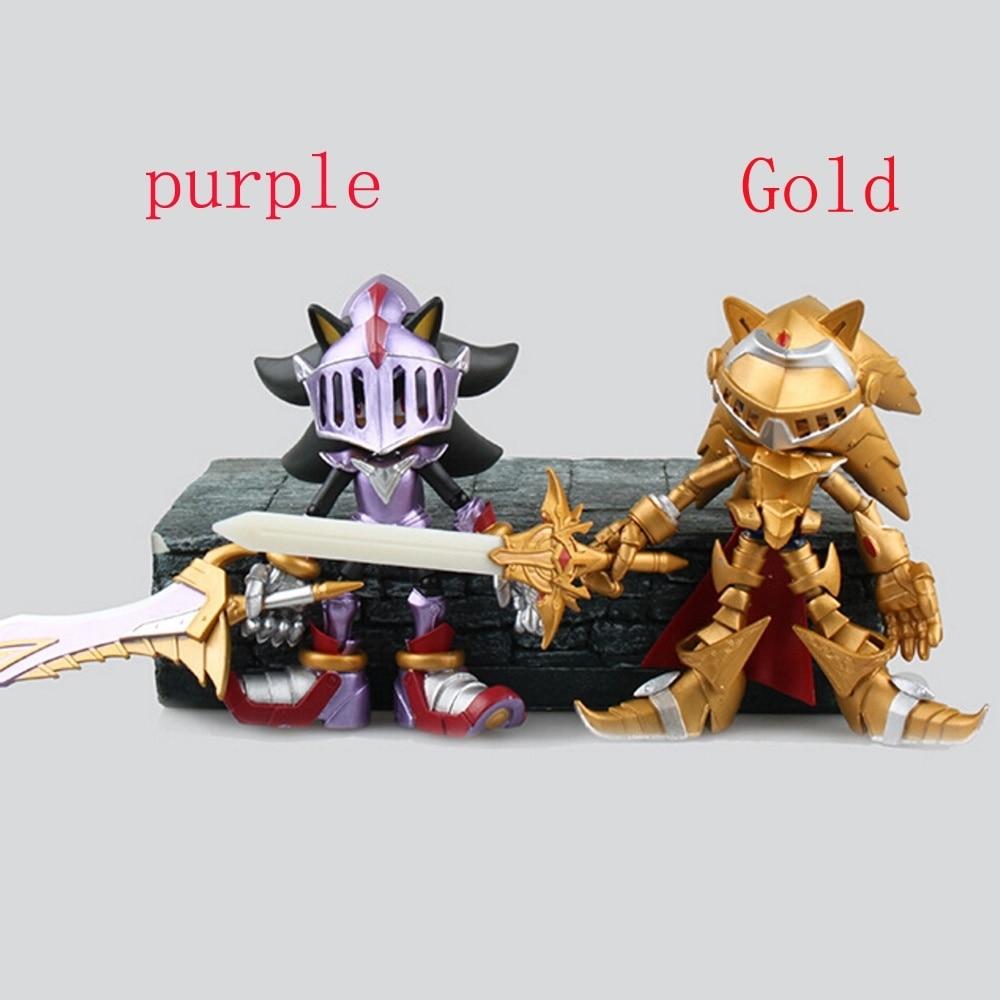 14cm <font><b>Black</b></font> <font><b>Knight</b></font> <font><b>Sonic</b></font> <font><b>the</b></font> <font><b>Hedgehog</b></font> with Shadows Sword PVC <font><b>Action</b></font> Figure Model Toy Anime Game Figurine