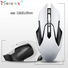 Mosunx White 2.4GHz Wireless 4D Gaming Mouse USB Receiver Pro Gamer For PC Laptop Desktop Sep 16