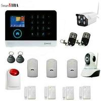 SmartYIBA wifi GSM беспроводная домашняя охранная сигнализация Клавиатура RFID Скрытая ip камера язык переключаемый
