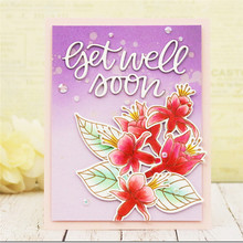 Naifumodo Get Well Soon Letter Metal Cutting Dies for Craft Scrapbooking Album Stencil Card Making DIY New