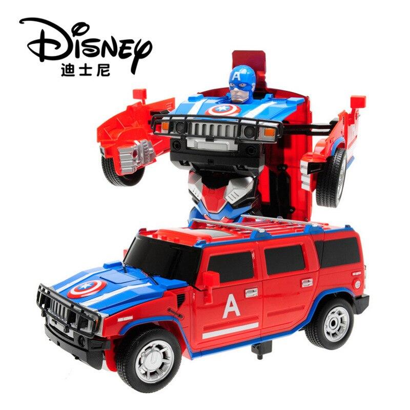 Disney voiture à distance Captain America télécommande voiture jouet voiture un bouton déformation danse dérive déformation voitures pour enfants