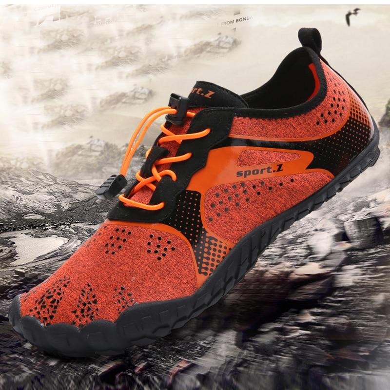 Hombre descalzo cinco dedos zapatos de verano zapatos para correr para hombres al aire libre ligera rápido Aqua zapatos de Fitness deportes zapatillas de deporte