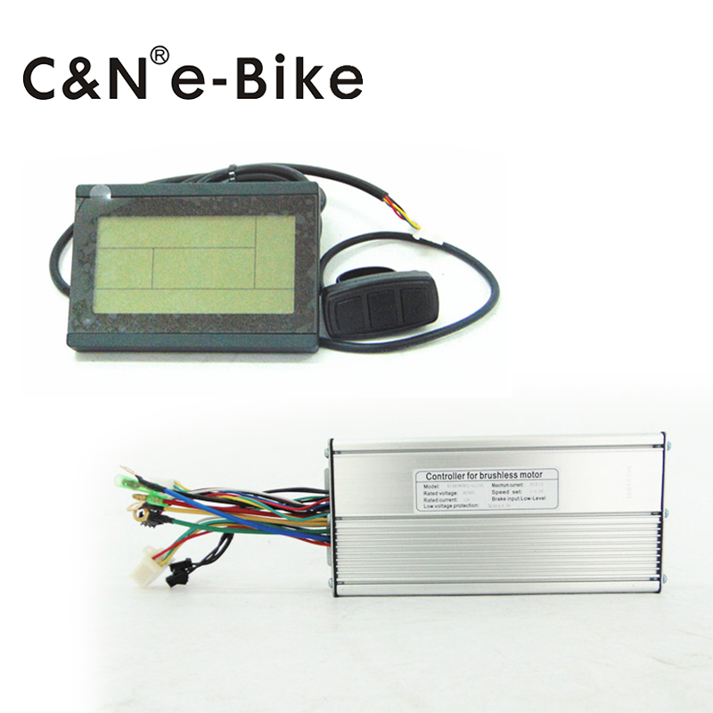 new design LL-brand 26A electric bike controller 48v 1000w with LCD display brand new 2015 6 48 288 a154