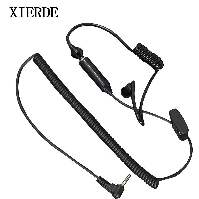 2.5mm 1 Pin Kulak Gizli Kulaklık Kulaklık PTT Mikrofon Motorola Taşınabilir Radyo TLKR T5 T7 T8 T80 Talkabout XTR446 Walkie Talkie