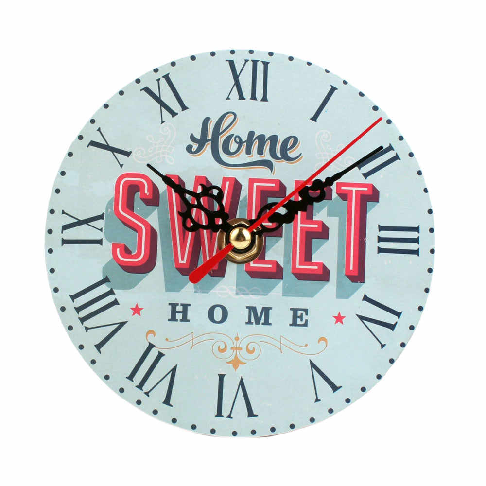 Vintage Style Silent Antique Wood Wall Clock clocks living room diy wall clock sticker watch Home decoration accessories small