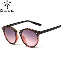 DRESSUUP 2017 Vintage Round Sunglasses Women Brand Designer Eyewear UV400 Gradient Female Retro Sun Glasses Oculos De Sol Gafas