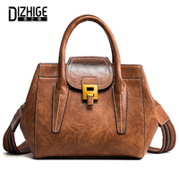 DIZHIGE Brand Women Shoulder Bag High Quality PU Leather Bag Ladies Handbag Thread Solid Female Crossbody