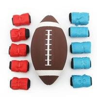 1 pcs de Alta Qualidade seguro bandeira NFL futebol Americano de Borracha Macia Brinquedo Bola de futebol Bola de Rugby do presente do menino Do Esporte para crianças