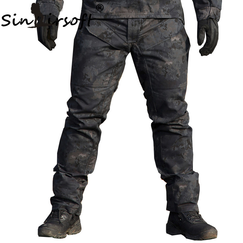 SINAIRSOFT TACTICAL Men Military Bionic Camouflage Hunting Pants Outdoor Sports SWAT Scratch-resistant Airsoft Shooting Trousers
