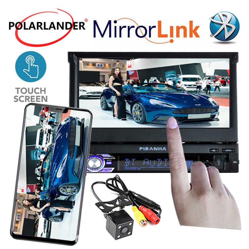カーラジオの Bluetooth MP5 Autoradio オーディオオートステレオ FM Bluetooth 1 DIN 7 インチのタッチスクリーンミラーリンク車ラジオカセットプレーヤー